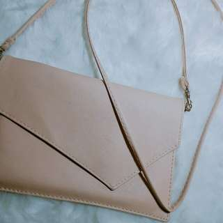Pastel pink envelope bag