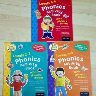 Phonics Activity Book w stickers 2-6 yrs old