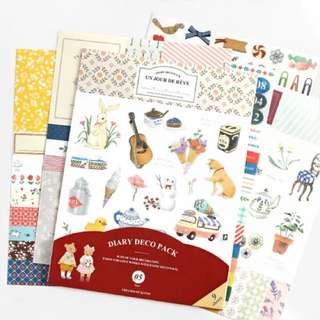 Diary deco pack, version 5, 9 sheets