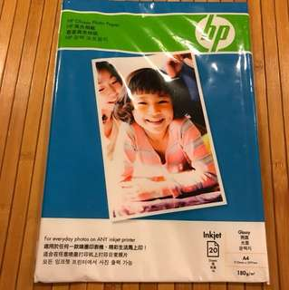HP Glossy Photo Paper (20sheets x A4$