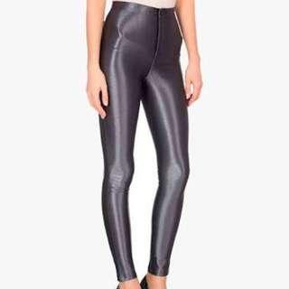 American Apparel Disco Pants Metalic Grey