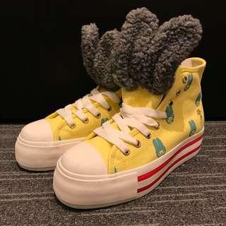 B+Ab x Mercibeaucoup x my melody 黃色厚底鞋 38號