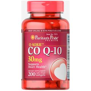 Puritan's Pride 輔酶 CO Q-10 30mg/200軟膠囊