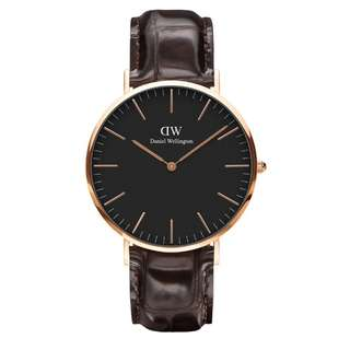 100% Original [CNY SALES] Daniel Wellington Watch Classic Black Collection York Rose Gold 36mm / 40mm Free Delivery