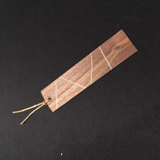 Handmade wooden bookmark