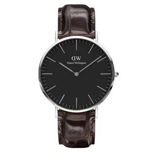 100% Original [CNY SALES] Daniel Wellington Watch Classic Black Collection York Silver 36mm / 40mm Free Delivery