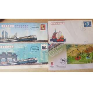 RARE Hong Kong 2008 Beijing Olympics First Day Cover + North Korean Stamps