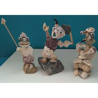 Seashell Art - TROLL ARMY (sold as single soldiers)