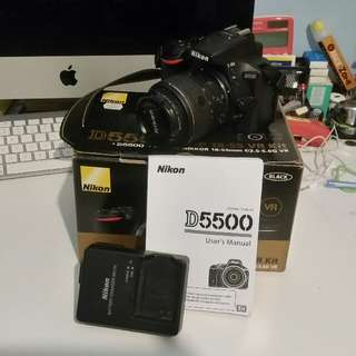 Nikon D5500 DSLR 24MP Wifi, Kit Lens 18-55mm