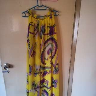 Summer Maxi Dress ( Yellow )