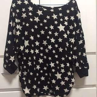 🚚 星星五分袖寬鬆衣