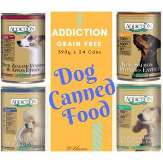 Promotion : Addiction Canned Dog Food 390g