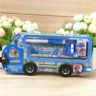 Metal pencil box MPV car type frozen/ little pony/ hello kitty