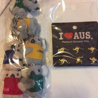 Koala Keychain and Pins / Brooch