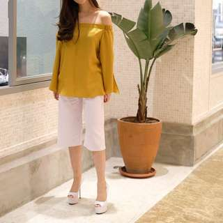 Yellow sabrina top (avail yellow&blue)