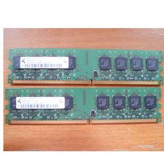 1GB DDR2 PC2-6400U 800MHz DIMM 240-pin) Memory  (2 PCS) [a2]