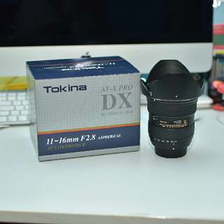 Tokina 11-16mm f2.8 AT-X Pro DX 2 Nikon Mount