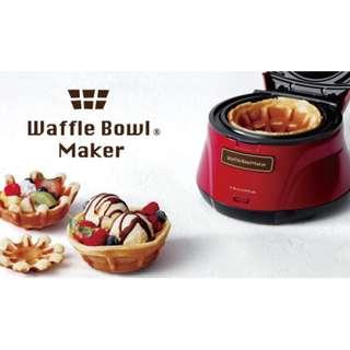 recolte 日本麗克特 Waffle Bowl 杯子鬆餅機甜心紅