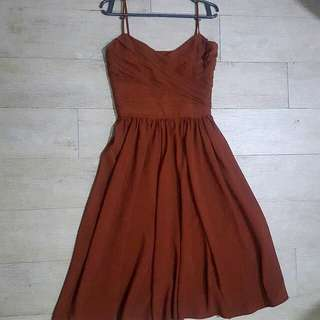 Zara Basic Brown Dress