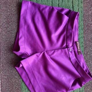 Purple hotpants