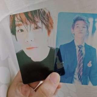 Baekhyun transparent card+photocard