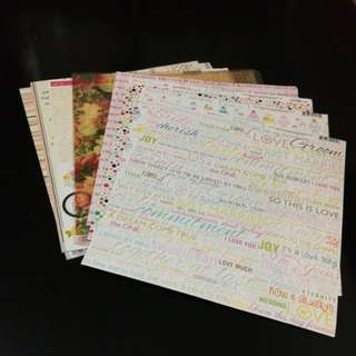 Grab Bag 1 : Scrapbook 12x12 Papers