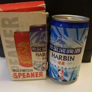 哈爾濱 啤酒罐 電腦喇叭