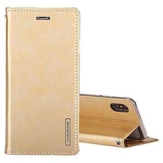 iphoneX Gold Flip Cover
