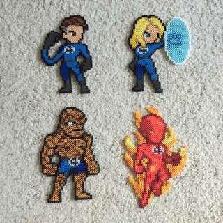 Hama beads design Marvel Fantastic 4