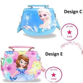 Frozen kid shoulder PU sling bag tote - C/E