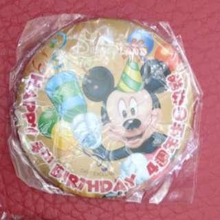 Disney 襟章 Happy 4th Birthday