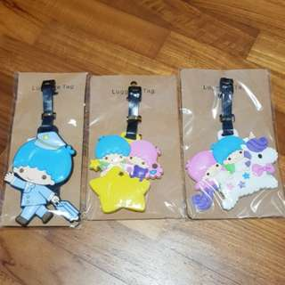 Twin star luggage tag