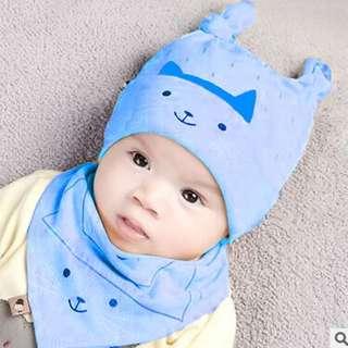 Baby 👶 Bonnet & Bib set
