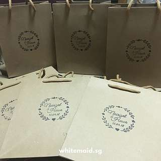 PO Kraft Paper Bag With Personalised Stamp
