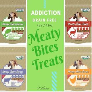 up to 30% Sales : Addiction Meaty Bites Grain Free Dog Treats Pet Food Dog Food Buy More Save More