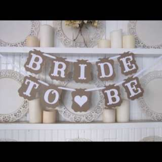 bride to be flag
