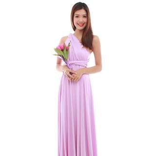 Cherie Convertible Maxi Dress in Lilac
