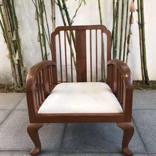 Teakwood single seater arm chair