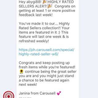 Thank you so much Carousell 😊