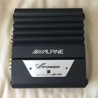 Alpine MRP-M350 700W Mono Power Amplifier