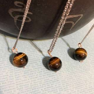 Tiger's eye crystal pendant