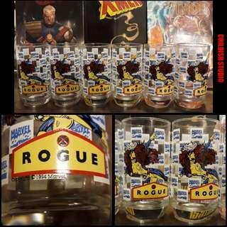 Vintage 1994 ROGUE (X-Men) Marvel Comics Pint Glass.