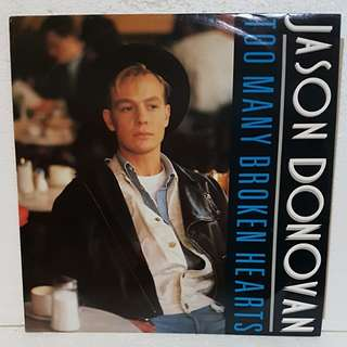 Jason Donovan - Too Many Broken Hearts Vinyl Record