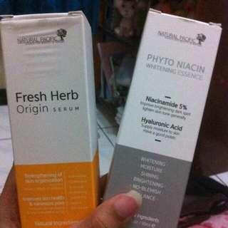 Natural pacific serum dan whitening essence