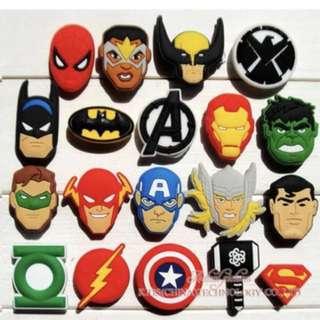 Jibbitz shoe charms marvel avenger superhero dc comics