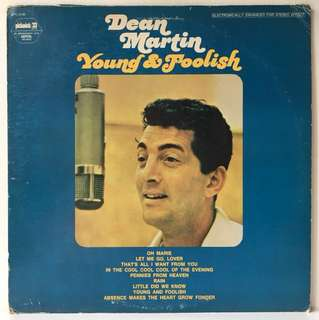 Dean Martin ‎– Young & Foolish (1969 US Original - Vinyl is Excellent)