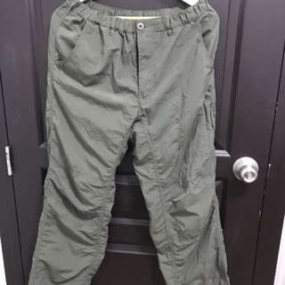 Military green trekking and hiking pants