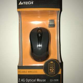 A4 Tech G3-280N-1 Wireless Optical Mouse (Gray)