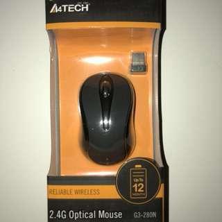 A4 Tech G3-280N-1 Wireless Optical Mouse (Gray)