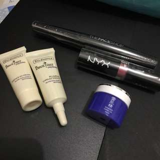 Assorted Skin care and makeup